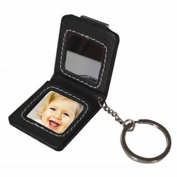 מחזיק מפתחות דמוי עור עם תמונה